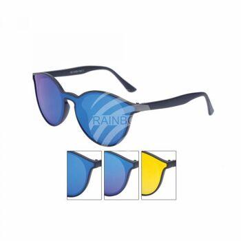 VIPER Sonnenbrille Designbrille rund flat lens