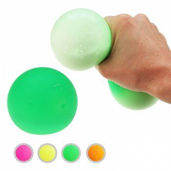 10-582620, Neon Knautschball 9 cm 140g, Quetschball, Antistressball, Der Knautsch und Quetsch-Spaß