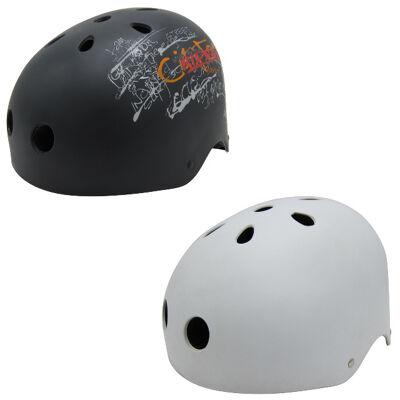 10x Kinder Jungend Skateboard Fahrrad Helm BMX Inliner Skaterhelm Freestyle EN1078 Farbe: Weiß/Schwarz, Größe: S/M/L