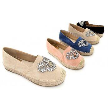 Damen Woman Sommer Trend Espadrille Pantolette Slipper Schuh Shoes Business Freizeit - 12,90 Euro