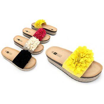 Damen Woman Sommer Trend Pantolette Espadrilles Sandalette Slipper Schuh Shoes Business Freizeit - 9,90 Euro