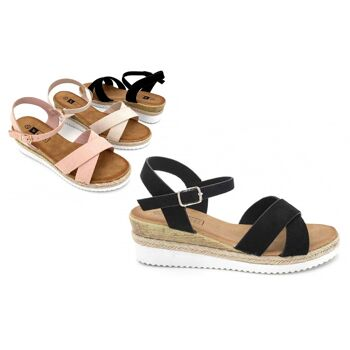 Damen Woman Sommer Trend Sandalette Riemchensandale Sandale Slipper Schuh Shoes Business Freizeit - 9,90 Euro