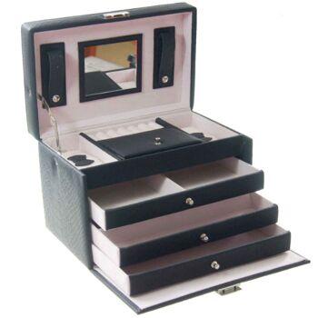 Exklusiver hochwertiger Schmuckkoffer mit 3 Schubladen
