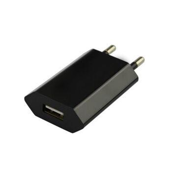 1000x USB Adapter Steckdose Ladegerät UNIVERSAL Netzteil Stecker, Farbe: Schwarz
