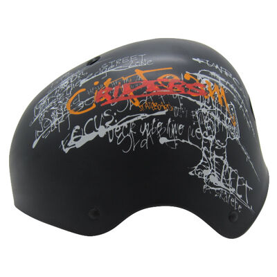 10x Kinder Jungend Skateboard Fahrrad Helm BMX Inliner Skaterhelm Freestyle EN1078 Farbe: Schwarz, Größe: M