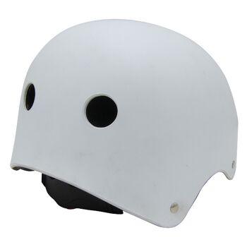 10x Kinder Jungend Skateboard Fahrrad Helm BMX Inliner Skaterhelm Freestyle EN1078 Farbe: Weiß, Größe: L