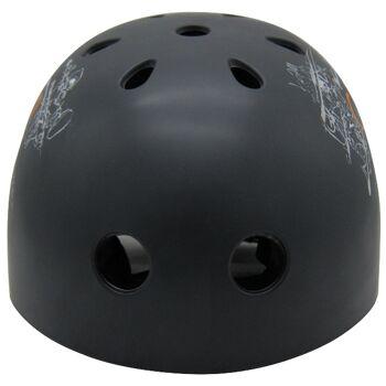10x Kinder Jungend Skateboard Fahrrad Helm BMX Inliner Skaterhelm Freestyle EN1078 Farbe: Schwarz, Größe: L