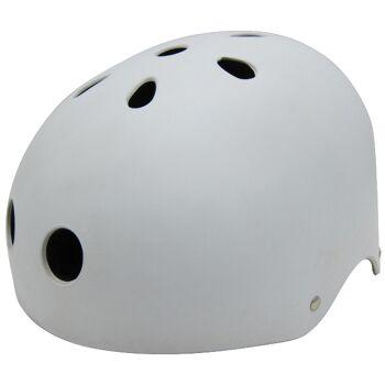 10x Kinder Jungend Skateboard Fahrrad Helm BMX Inliner Skaterhelm Freestyle EN1078 Farbe: Weiß, Größe: M