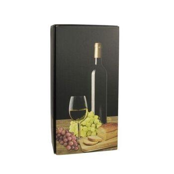 Wein-Präsentkarton 36 cm x 18 cm x 9 cm schwarz