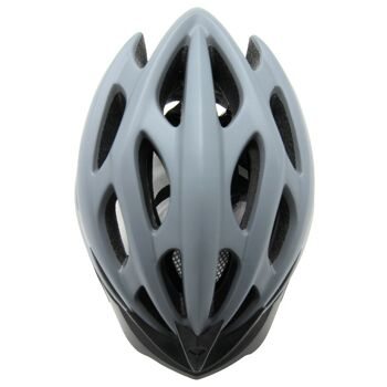 10x Fahrradhelm Helm Radhelm Rennrad Trekking Helme mit LED Reflektor EN1078 Farbe: Grau, Größe: L
