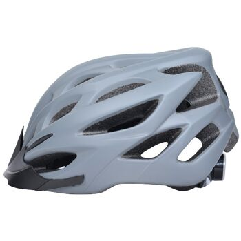 10x Fahrradhelm Helm Radhelm Rennrad Trekking Helme mit LED Reflektor EN1078 Farbe: Grau, Größe: S