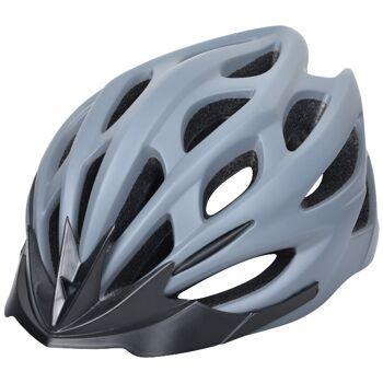 10x Fahrradhelm Helm Radhelm Rennrad Trekking Helme mit LED Reflektor EN1078 Farbe: Grau, Größe: M