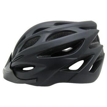 10x Fahrradhelm Helm Radhelm Rennrad Trekking Helme mit LED Reflektor EN1078 Farbe: Schwarz, Größe: L
