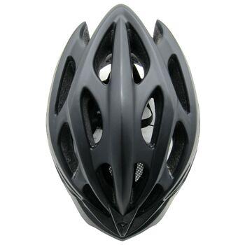 10x Fahrradhelm Helm Radhelm Rennrad Trekking Helme mit LED Reflektor EN1078 Farbe: Schwarz, Größe: M