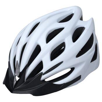10x Fahrradhelm Helm Radhelm Rennrad Trekking Helme mit LED Reflektor EN1078 Farbe: Weiß, Größe: S