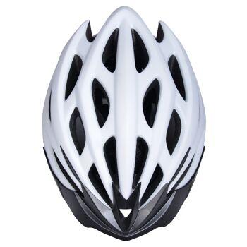 10x Fahrradhelm Helm Radhelm Rennrad Trekking Helme mit LED Reflektor EN1078 Farbe: Weiß, Größe: M