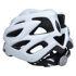 10x Fahrradhelm Helm Radhelm Rennrad Trekking Helme mit LED Reflektor EN1078 Farbe: Weiß, Größe: L