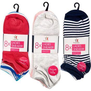 28-699005, Damen Sneaker Socke 8er Pack, Strümpfe