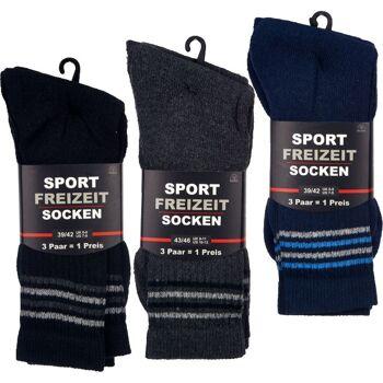 28-742114, Sport- und Freizeit-Socken 3er Set, Sportstrümpfe, Sportsocken
