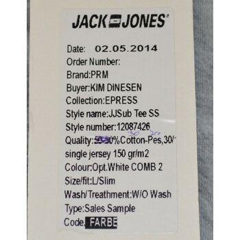 Jack & Jones JJSub Tee SS T-Shirt Opt.White Comb2 Gr.L Slim Fit shirts 6-1190
