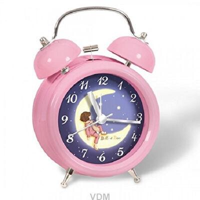 Belle Boo Wecker Geräuschlosser Betrieb + Nachtlampe Geschenk Kinder Uhr