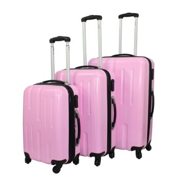 ecolle Kofferset 3 tlg. pink