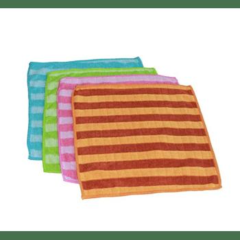 Waschlappen, extra saugfähig - 25x25 cm - 4 STÜCK gemischte Farben