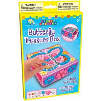 Sticky Mosaics: Butterfly Treasure Box, 1 Stück