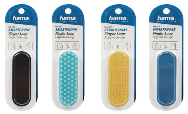 12-7090166, Hama Fingerhalter Griff für Smartphones und Tablets universal Fingerloop Handy Handyhalterung Ständer Halterung Halter