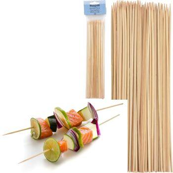 28-298781, Schaschlikspieße 100er Pack, Einweg-Spieße aus Bambus