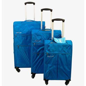 ecolle Stoff Kofferset 3 tlg. blau