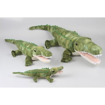 06-20107, Plüsch Krokodil 36 cm mit Glasaugen, Plüschtier