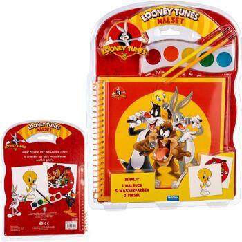28-744258, Malset Looney Tunes, 1 Malbuch, 5 Wasserfarben, 2 Pinsel