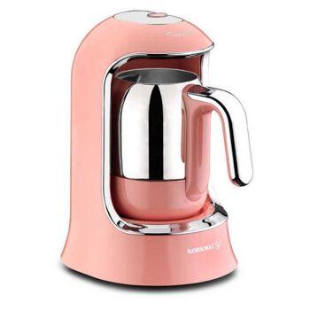 Korkmaz Kahvekolik Mokkamaschine easy One Touch Steuerung, 400 W, rosa