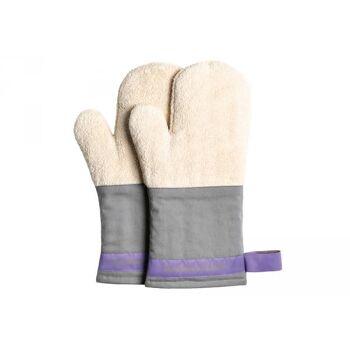 Backhandschuhe natur/grau 1 Paar