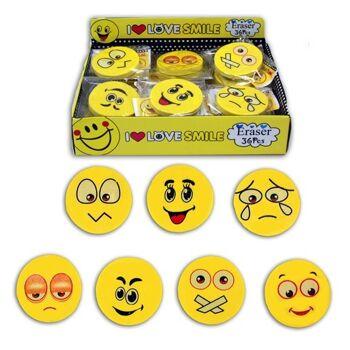 06-1808, Radiergummi, Smile, 4,5 cm, Lachgesicht, Lachgesichter, Schulbedarf, usw+++++++++