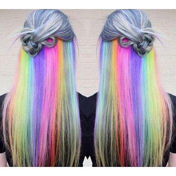 Blauer Haarkreide