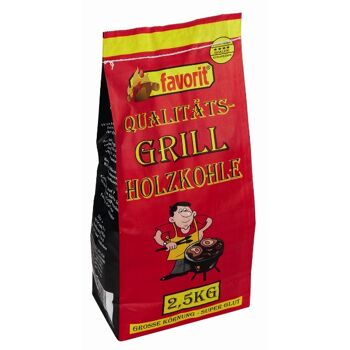 12-218956, Grill-Holzkohle FAVORIT 2,5 kg Beutel, Grillkohle, Grillholzkohle