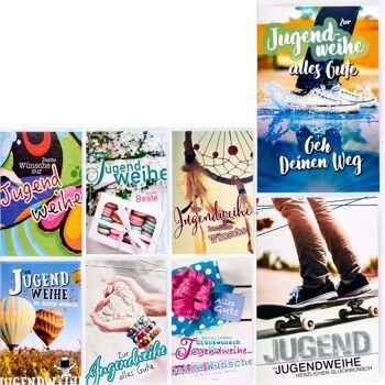 28-031701, Karten Jugendweihe, mit Umschlag, Geschenkkarten