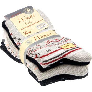 28-04574, Damen Socke 5er Pack, Socken, Strümpfe