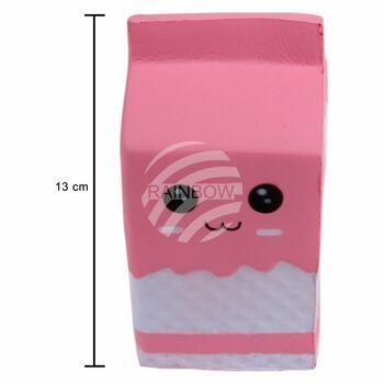 SQ-24 Squishy Squishies Milchtüte mit Gesicht rosa ca. 13 cm