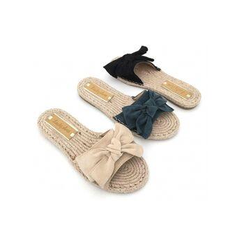 Damen Trend Slipper Sandale Slip on Schuhe Schuh Shoes Business Freizeit Schuh nur 9,90 Euro