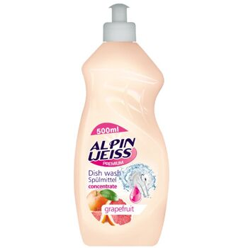 Geschirrspülmittel, Spülmittel ALPINWEISS Lime 500ml, Dishwashing liquid