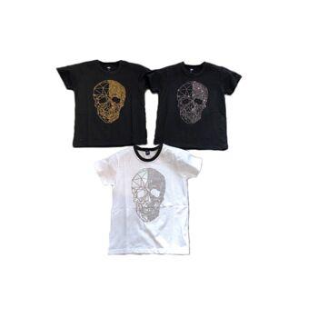 Kinder Jungen T-Shirt 4-14 Jahre Print Totenkopf Skull Shirt Shirts Kurzarm Kindershirts Oberteil - 7,90 Euro