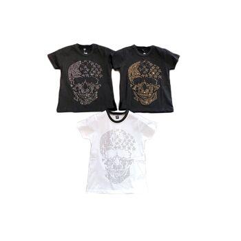 Kinder Jungen T-Shirt 6-16 Jahre Print Totenkopf Skull Sterne Shirt Shirts Kurzarm Kindershirts Oberteil - 7,90 Euro