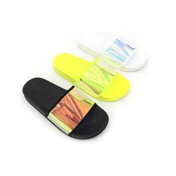 Damen Trend Sandale Holo Metallic Look Schuhe Schuh Shoes Sommer Business Freizeit Schuh nur 9,90 Euro
