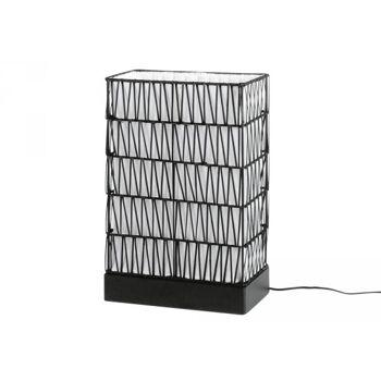 Lampe Togo Holz E 27 max. 40 Watt ohne Leuchtmittel 17x32x49cm schwarz
