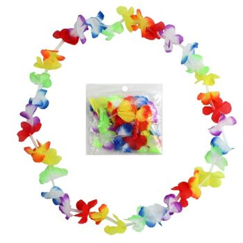 27-95018, Hawaiiblumenkette 100 cm, Blütenkette, Blumenkette, Party, Event,