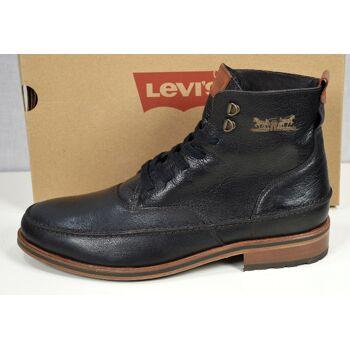 Levis Herren Leder Stiefel Schuhe Schwarz Herren Stiefel Schuhe 10121500