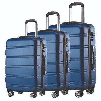 Kofferset  Reisekoffer Set Reise Koffer Set 3 tlg ABS Polycarbonat Hartschale blau Neuware Sonderposten / KEINE B WARE / ORIGINALVERPACKT